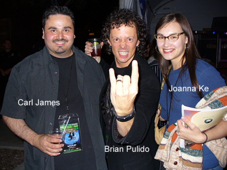 Carl James with Brian Pulido and Joanna Ke