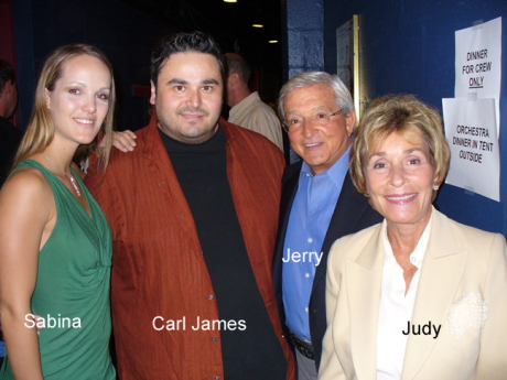Carl James with Judge Judy_Jerry_and_ Sabina Mari