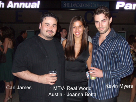 Carl James with Johanna Botta and Kevin Myers