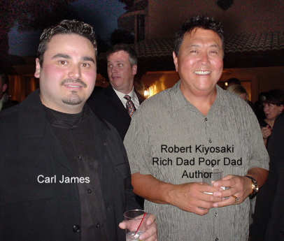 Carl James with Robert Kiyosaki_Rich Dad Poor Dad Author