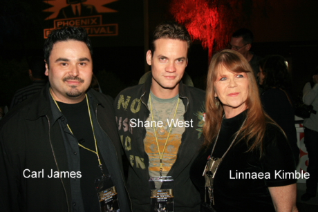 Carl James with Shane West and Linnaea Kimble