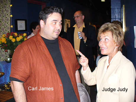 Carl James and Judge Judy