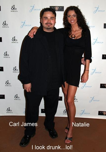 Carl James with Natalie Muller