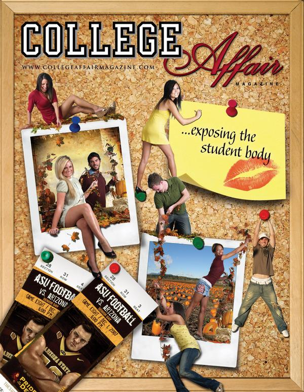 College Affair Magazine Cover by Carl James Photography